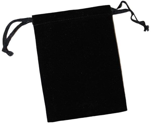 Schmuckbeutel / Velourbeutel schwarz 10er Pack