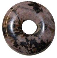 Edelstein Donut Rhodonit, 30 mm