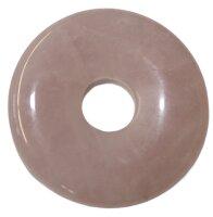 Edelstein Donut Rosenquarz, 30 mm, netto