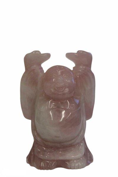 Buddha aus Rosenquarz,