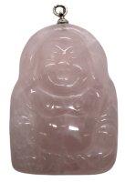 Anhänger Buddha aus Rosenquarz