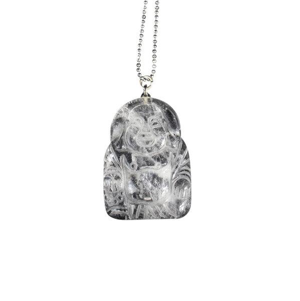 Anhänger Buddha aus Bergkristall