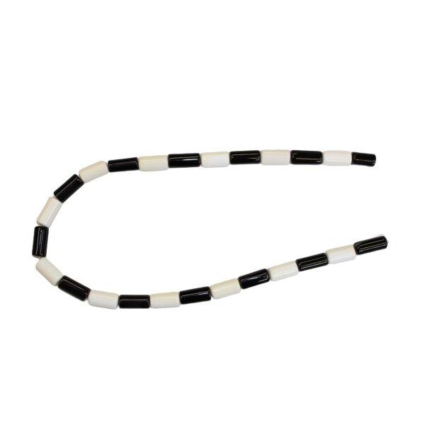 Strang Onyx Walze 8 x 16 mm, schwarz und weiß