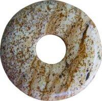Edelstein Donut Landschaftsjaspis, 30 mm