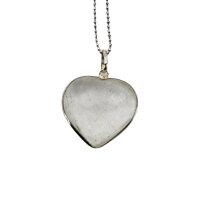 Anhänger Herz Bergkristall, Silber gefasst
