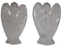 Engel aus Bergkristall, ca. 45 x 40 mm