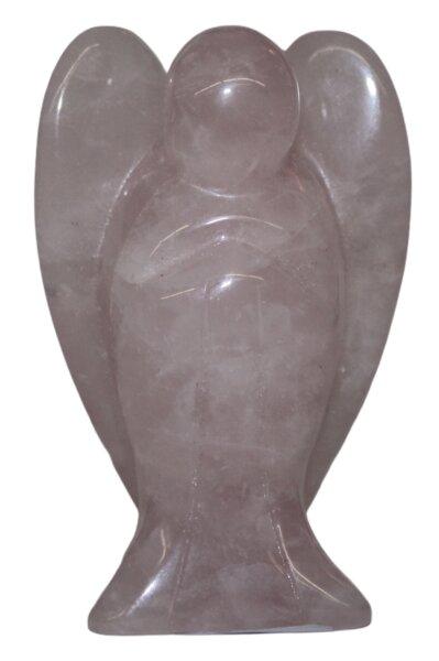 Engel aus Rosenquarz, ca. 45 x 40 mm