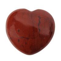Herz roter Jaspis, ca. 45 x 40 mm
