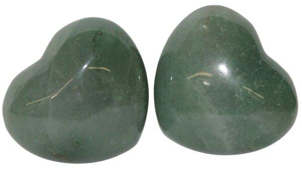 Herz Aventurin grün, ca. 45 x 40 mm