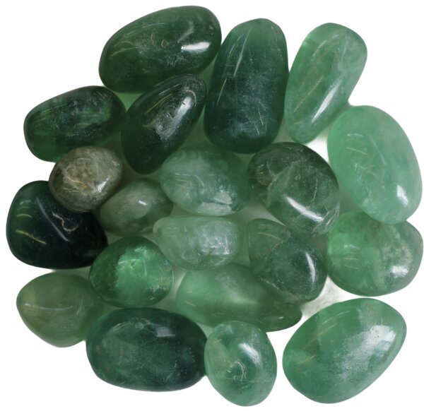Trommelsteine Fluorit grün , Qu. I, 500 Gramm