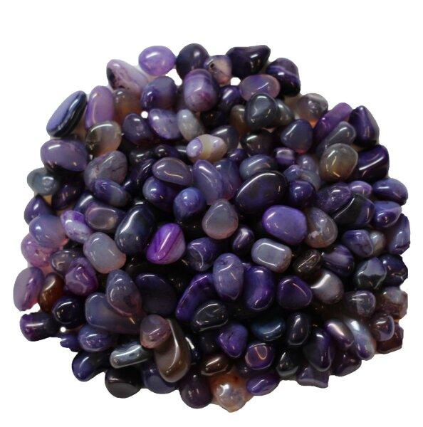 Trommelsteine Achat lila gefärbt, mini, 1 KG Pack