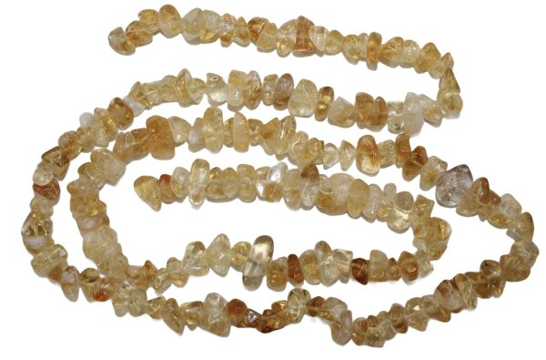 Strang Citrin Splitter poliert, Länge 95 cm