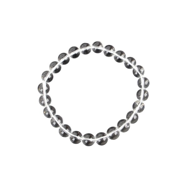 Armband Bergkristall Kugeln 8 mm