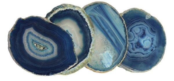Achatscheiben blau rund