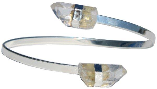 Armspange mit Bergkristall Spitzen