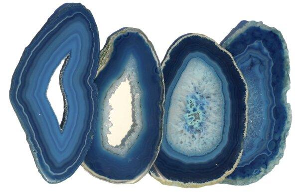 Achatscheiben blau, oval