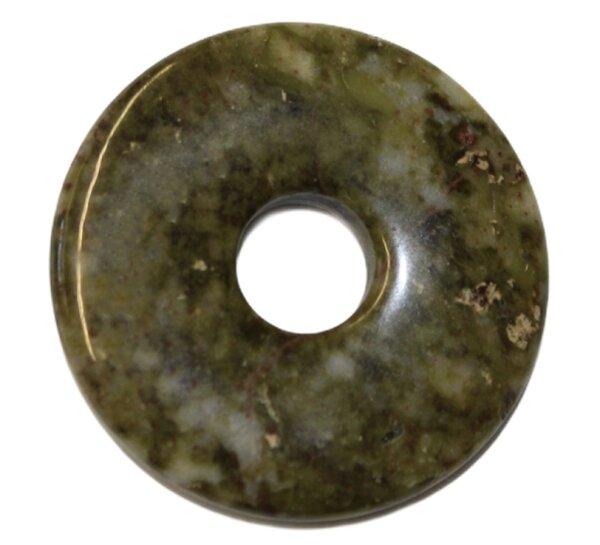 Donut grüner Jade, 30 mm