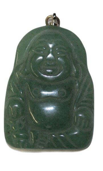 Anhänger Buddha aus grüner Aventurin