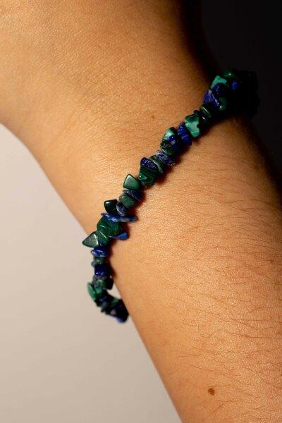 Armband Azurit Malachit Splitter