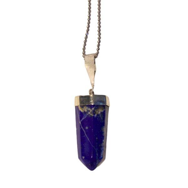 Anhänger Lapis Lazuli Spitze, 925er Silber gefasst