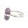 Ring Amethyst Doppelspitze, 925er Silber