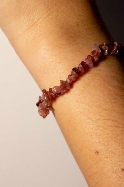 Armband Splitter pink Turmalin