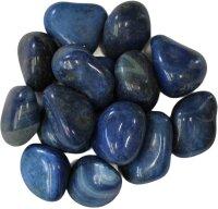Trommelsteine Achat blau, gefärbt, 1 KG Packung