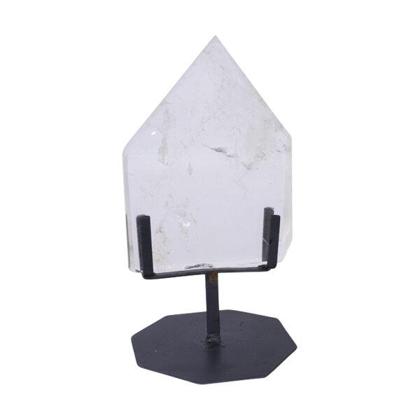Bergkristall Platte poliert auf Ständer, 1,35KG