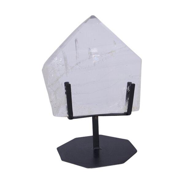 Bergkristall Platte poliert auf Ständer, 1,50 KG