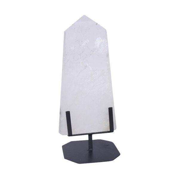 Bergkristall Platte poliert auf Ständer, 3,70 KG
