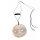 Kette Perlmutt mit Muschelanhänger rund, 2 Perlen und Band, netto