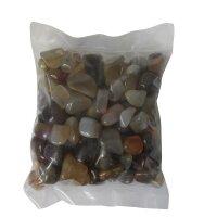 Trommelsteine Achat natur, 1 KG Packung