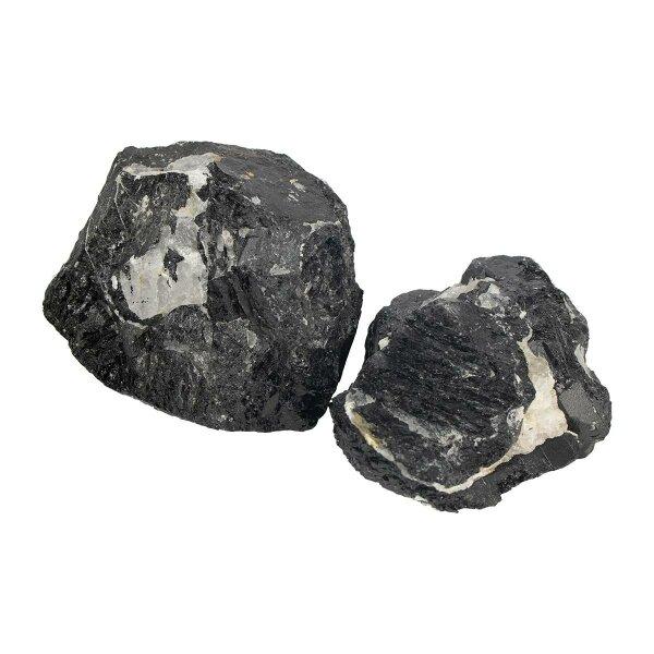 Schwarzer Turmalin mit Quarz