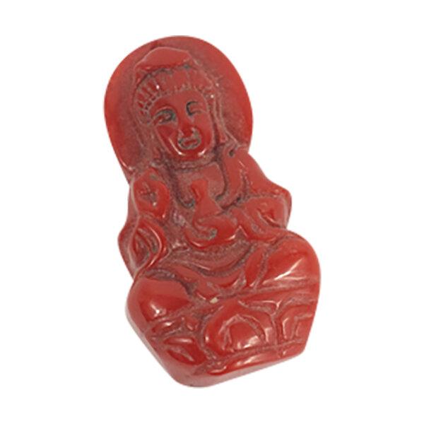 Buddha aus Bambuskoralle , flach