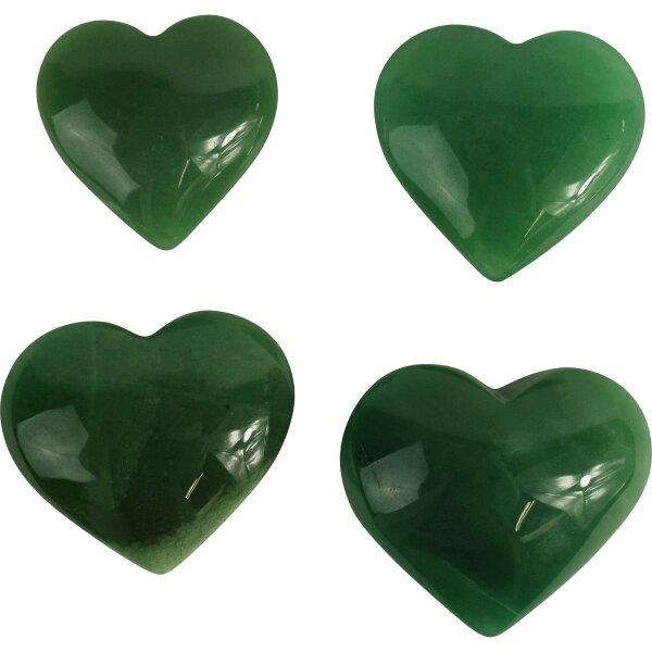 Herzen Aventurin grün, Größe S bis XL