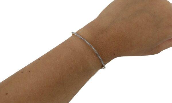 Pullstring Armband Labradorit 2 mm, facettiert