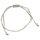 Pullstring Armband Hematin silberfarben, 2 mm, facettiert