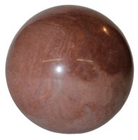 Kugel Granit rot -  braun , ca. 50 mm