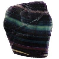 Fluorit Regenbogen Scheibe poliert, 559 Gramm