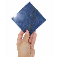 Untersetzer aus Blauquarz, 10 cm x 10 cm x 5 mm