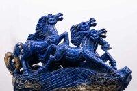 Pferdegruppe aus Laspis Lazuli, 19,08 KG