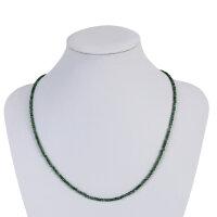 Kette Smaragd ca. 2 mm, facettiert , 45 cm