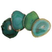 Achatscheiben grün rund, per Kilo