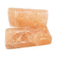 Natur Kristallsalz Ziegel, 1 Seite natur