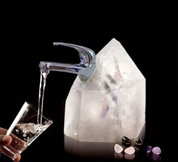 Wasser Zapfarmatur Bergkristall
