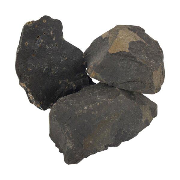 Schwarzer Onyx Rohsteine