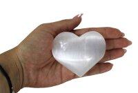 Herz Selenit weiß