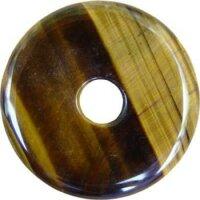 Edelstein Donut Tigerauge, 30 mm netto