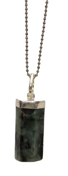 Anhänger Smaragd, 925er Silber gefasst