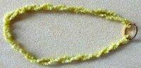Splitterkette Jade gelb 90 cm, endlos, netto